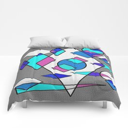 Grey blue and white Comforters