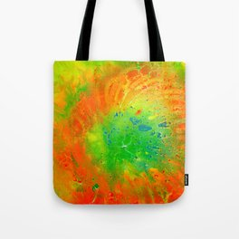 Orange In Green Tote Bag