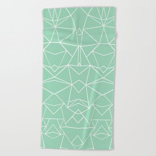 Abstract Mirror Mint Beach Towel