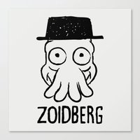 zoidberg Canvas Prints featuring Zoidberg by le.duc