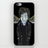 vonnegut iPhone & iPod Skins featuring Kurt Vonnegut Jr Oil Painting by Tony King  by Tony King - Beautifully Mad