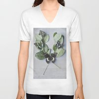 botanical V-neck T-shirts featuring Butterfly Botanical  by Pure Nature Photos