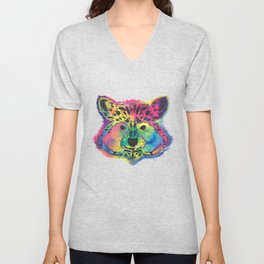 Racoon Colorful Unisex V-Neck