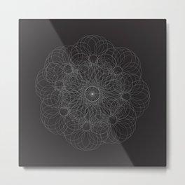 Fractal Mandala Metal Print