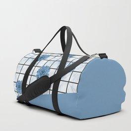 Succulents geometric composition - Blue-Grey Duffle Bag
