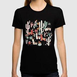 Lama in cactus jungles T-shirt