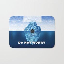 1 Peter 5:7 Worry Bath Mat