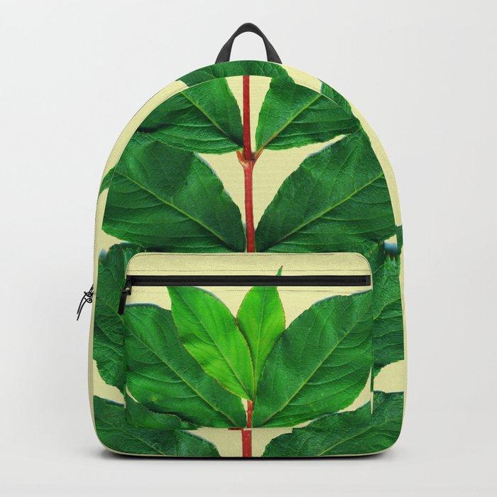 Tree Branch Minimal Leaves Backpack