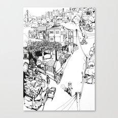 Mesogi Village Centre Canvas Print