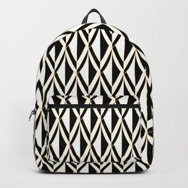 Luxurious Black, White & Gold Art Deco Backpack