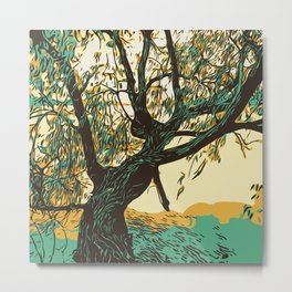 The Burial Ground Tree Metal Print