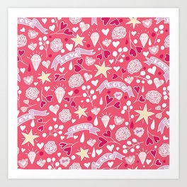 Love Symbols Art Print