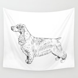 Spaniel Ink Drawing Wall Tapestry