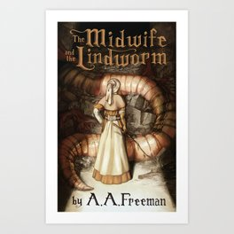 The Midwife and the Lindworm - Title Version Art Print