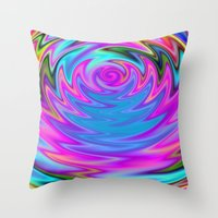 60s Throw Pillows featuring Psychedelic 60s by Alice Gosling