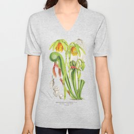 Cobra Plant (Darlingtonia Californica) Unisex V-Neck