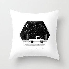 Happiness on a Dirt Road Throw Pillow