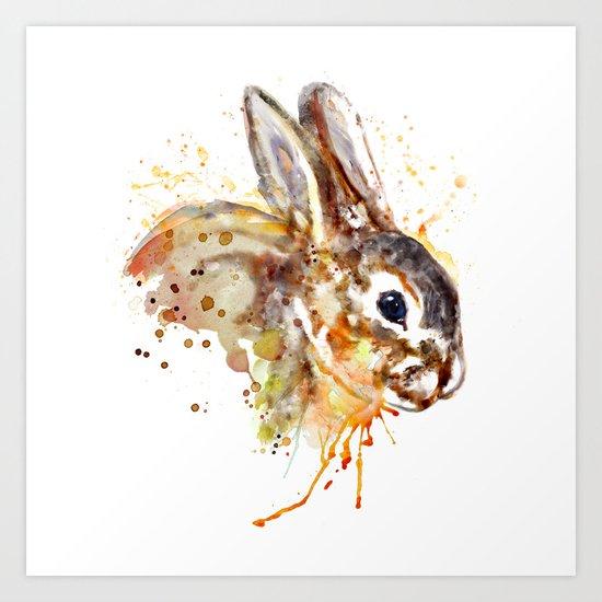 Mr. Bunny Art Print