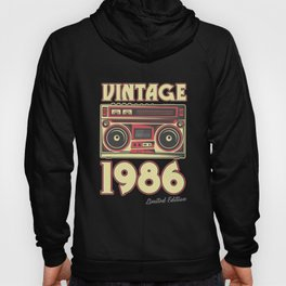 Classic 34th Birthday Gift Cassette Vintage 1986 Hoody