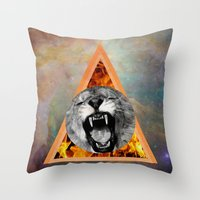 leon Throw Pillows featuring leon by blueart