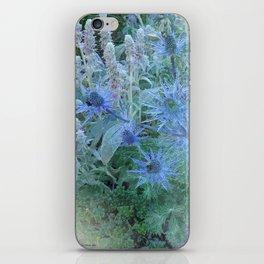 Blue Cone Flowers iPhone Skin