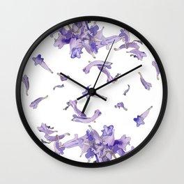 Jacaranda Mandala Wall Clock