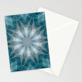 Mandala in Green, White and Rose Tones. Stationery Cards