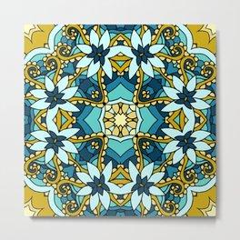 Floral mosaic Metal Print