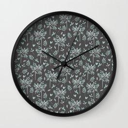 Olive - grey edition Wall Clock