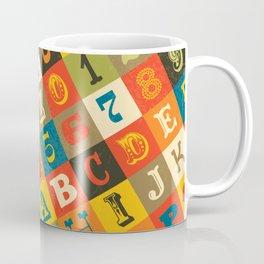 VINTAGE ALPHABET Coffee Mug