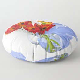Painted Gerberas by Amy Herman Floor Pillow