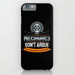 Mechanic Technician Engineering Auto-Mechanic Gift iPhone Case