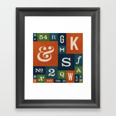 A Celebration of Typographic Form Framed Art Print
