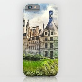 Medieval Chateau de Chambord in Loire Valley in France. iPhone Case