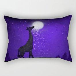 watch out here lives a hungry giraffe. Rectangular Pillow
