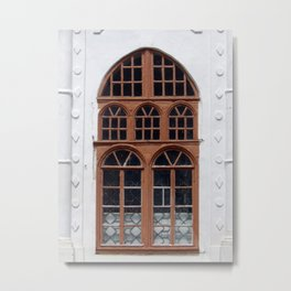 Window architecture Ukrainian Baroque the fragment of the building Metal Print