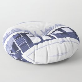 F.W. Woolworth All White Floor Pillow