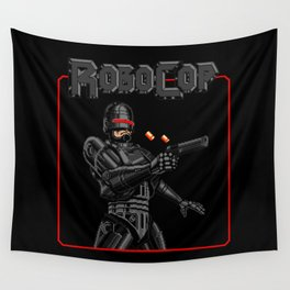 Black Robocop Remix Wall Tapestry