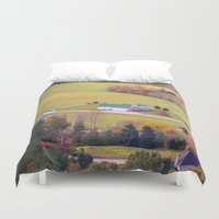 tennessee Duvet Covers featuring Tennessee Country by Mary Timman