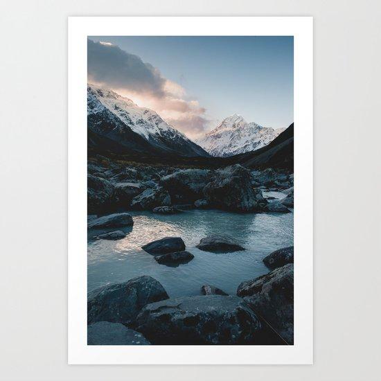 Hooker Valley, Mt Cook Art Print