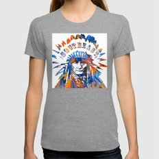 Southeast Native American Logo Design by Sharon Cummings Tri-Grey X-LARGE Womens Fitted Tee