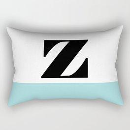 Monogram Letter Z-Pantone-Limpet Shell Rectangular Pillow