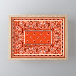 Classic Orange Bandana Framed Mini Art Print