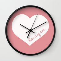 custom Wall Clocks featuring custom  by The Minted Pearl