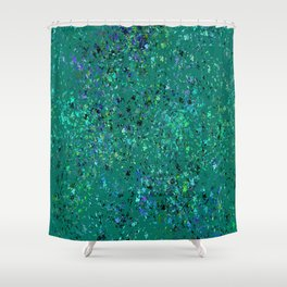 """Formica"" Digital Design in Green Shower Curtain"