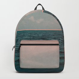 Turquoise Ocean Peach Sunset Backpack