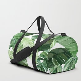 Green leaf watercolor pattern Duffle Bag