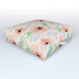 Peachy floral pattern Outdoor Floor Cushion