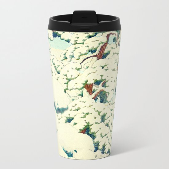 A Morning in the Snow Metal Travel Mug