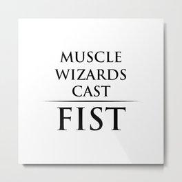 muscle Metal Print